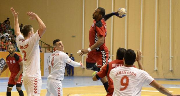 اليوم ختام منافسات كأس السوبر لكرة اليد بين مسقط ونادي عمان