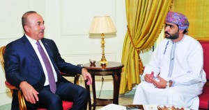 وزير الخارجية التركي يثمن جهود السلطنة بقيادة جلالته فـي تعزيز التفاهم والوئام بين الشعوب