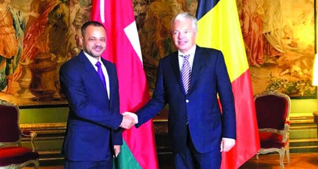بدر بن حمد يلتقي نائب رئيس الوزراء وزير خارجية مملكة بلجيكا فـي بروكسل