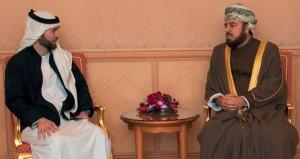 أسعد بن طارق يستقبل الأمير هاشم ابن الحسين
