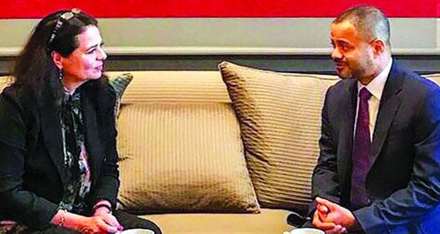 أمين عام الخارجية يلتقي رئيسة مجلس الشيوخ البلجيكي وأمين عام هيئة العمل الخارجي بالاتحاد الأوروبي
