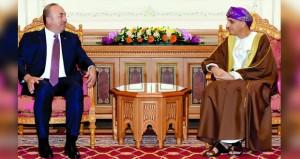 فهد بن محمود يستقبل وزير الخارجية التركي