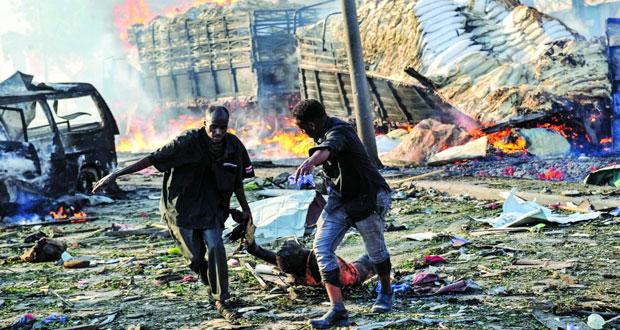 الصومال تعلن الحداد الوطني وعدد الضحايا يتجاوز الـ 137 قتيلا