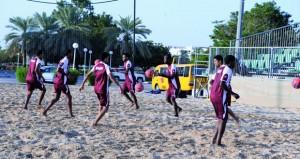 منتخبنا الوطني لكرة القدم الشاطئية ينتظم في معسكره الداخلي