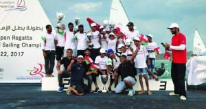 أشبال عُمان للإبحار يكتسحون المراكز الأولى في بطولة أبوظبي المفتوحة للشراع