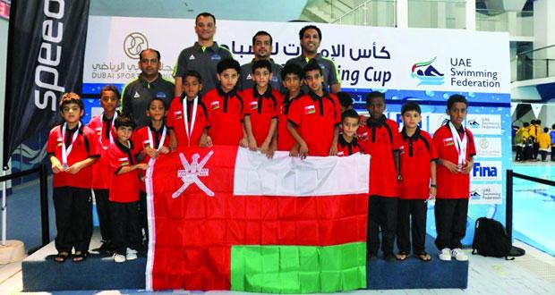 15 ميدالية حصيلة مشاركة منتخب مراكز إعداد الناشئين في كأس الإمارات للسباحة