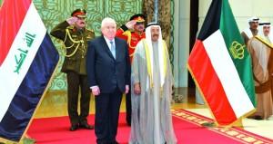 الكويت: الأمير يتقدم مستقبلي الرئيس العراقي
