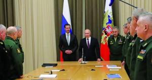 سوريا: بوتين يلتقي الأسد لبحث الانتقال إلى العملية السياسية بعد الانتصار العسكري
