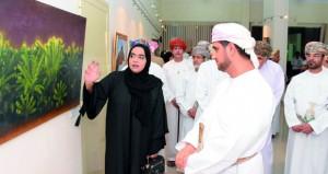 70 عملا فنيا في المعرض الثالث لأعضاء مرسم الفنون التشكيلية بصحار