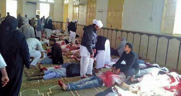 مصر: عشرات الضحايا في هجوم إرهابي يستهدف مسجدا بسيناء