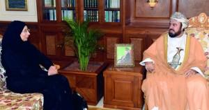أسعد بن طارق يستقبل وزيرة الصحة العامة بدولة قطر