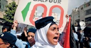 مئوية بلفور.. احتجاجات شعبية فلسطينية ومطالبات رسمية بــ(التصحيح)