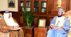 أسعد بن طارق يتسلم رسالة خطية من النائب الأول لرئيس مجلس الوزراء الكويتي