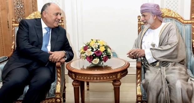 السلطنة ومصر تبحثان تعزيز التعاون الثنائي