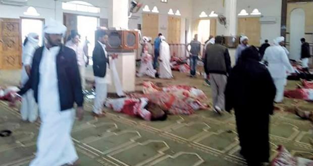 مصر: الإرهاب يفتح النار على مسجد الروضة بالعريش ويغتال العشرات