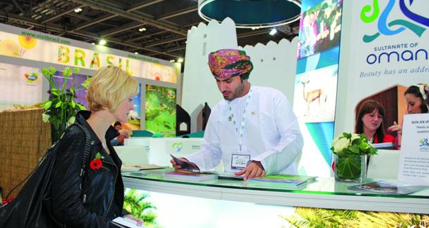 """""""السياحة"""" تروج المقومات السياحة للسلطنة ضمن معرض سوق السفر العالمي بلندن"""