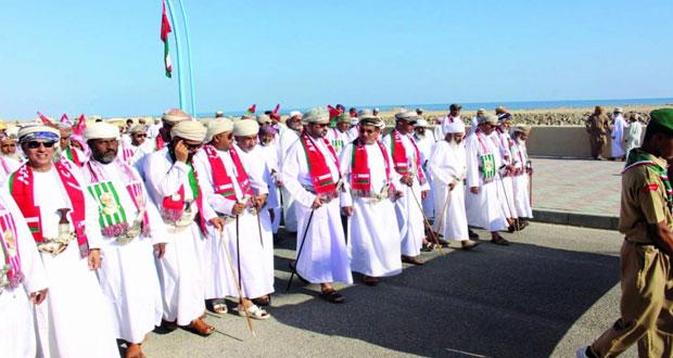 تواصل الإحتفالات بالعيد الوطني السابع والأربعين المجيد بعدد من ولايات السلطنة