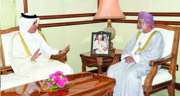 بحث التعاون الاقتصادي والاستثماري بين السلطنة وقطر