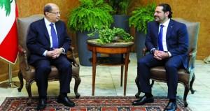 لبنان: عون يجري محادثات حول حفظ الاستقرار الأمني والنأي بالنفس