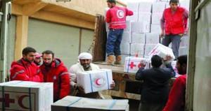 مساعدات من الهلال الأحمر السوري تصل البوكمال