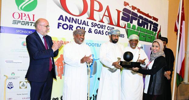 الجمعية العمانية للخدمات النفطية تتوج الفائزين في أسبوع أوبال الرياضي