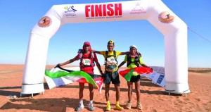 محمد المرابطي و نتاليا يحسمان جولة مسافة 27 كيلو مترا بحصولهما على المركز الأول