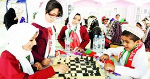 100مشارك في المهرجان المدرسي للشطرنج بشمال الباطنة