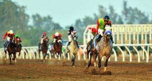 فهد بن محمود يرعى سباق الخيل السنوي للخيالة السلطانية بصحار