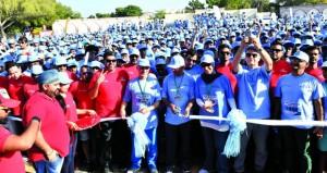 وزير الصحة يتقدم مسيرة للتوعية بمرض السكري في حديقة القرم الطبيعي