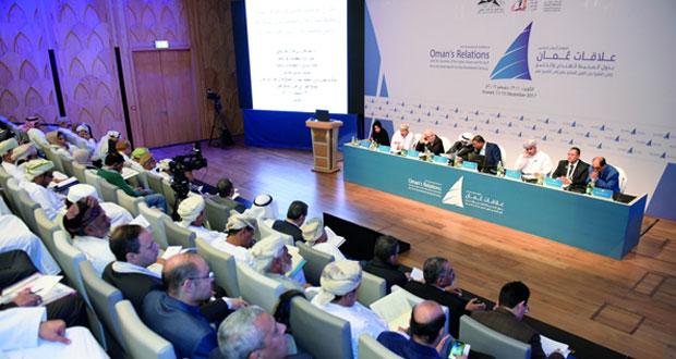 مؤتمر علاقات عمان بدول المحيط الهندي والخليج خلال الفترة من القرن السابع عشر إلى التاسع عشر يطرح (20) ورقة عمل في يومه الثاني
