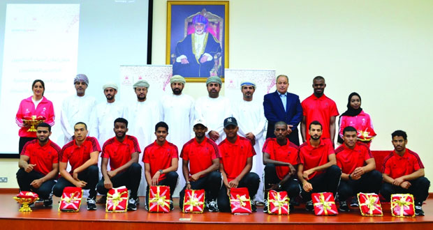 وزارة الشؤون الرياضية تحتفي بالمجيدين من مراكز المنتخبات الوطنية