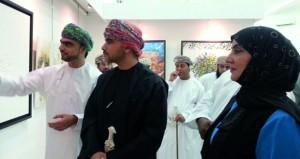 افتتاح المعرض السنوي الثاني عشر للخط العربي والتشكيلات الحروفية