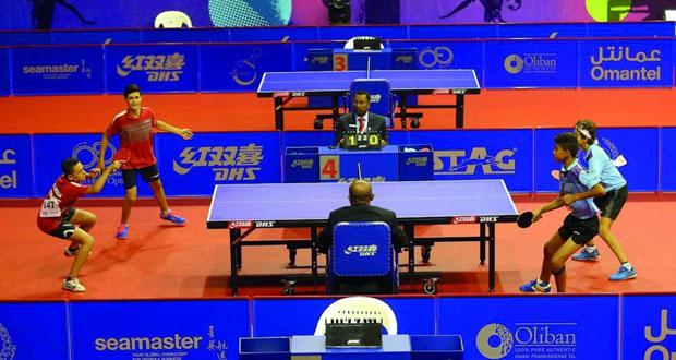 انطلاق منافسات بطولة عمان فايبر أوبتك الدولية لكرة الطاولة بمشاركة 100 لاعب من 20 دولة