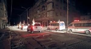 سوريا: إجلاء دفعة ثانية من (الحالات الإنسانية) وتحرير محتجزين لدى المسلحين بالغوطة الشرقية