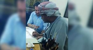 """الخطاط سامي الغاوي يقدم حلقة عمل """" الخطوط العثمانية """"بالشارقة"""