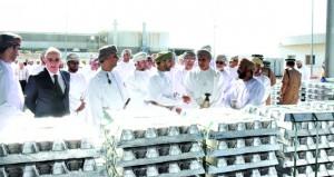 افتتاح مصنع عمان لصب الألمنيوم بمنطقة صحار الصناعية