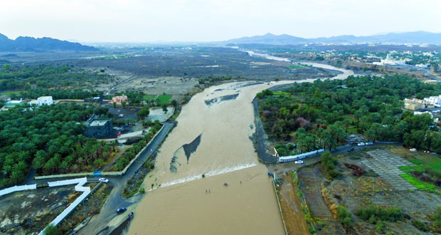 أمطار الخير مستمرة .. وسدود التغذية تحتجز 3.342 مليون متر مكعب مياه