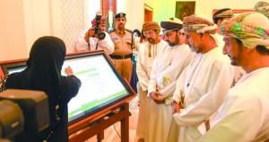 أمين عام شؤون البلاط السلطاني يدشن موقع الشورى الإلكتروني الجديد