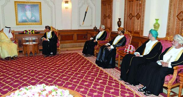 فهد بن محمود يستقبل مبعوث خادم الحرمين الشريفين ومبعوث رئيس دولة الإمارات