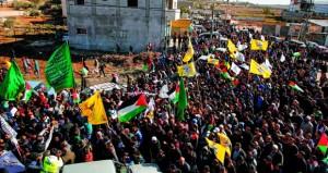 آلاف الفلسطينيين يشيعون شهيد قصرة