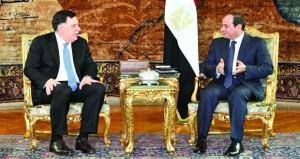 ليبيا: السراج يبحث في مصر جهود تسوية الأزمة في بلاده