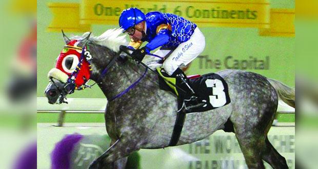 الحصان مغادر يتوج بمهرجان منصور بن زايد بأبوظبي
