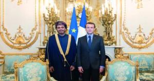 الرئيس الفرنسي يتقبل أوراق اعتماد سفير السلطنة
