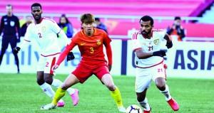 منتخبنا الأوليمبي يخسر أمام صاحب الضيافة المنتخب الصيني بثلاثية نظيفة
