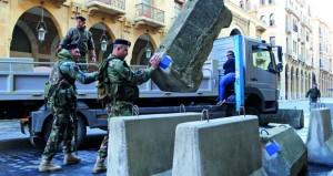 بيروت ترفع الطوق الأمني قرب مبنى البرلمان