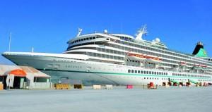 """ميناء صلالة يستقبل السفينة السياحية """"أرتانيا"""""""