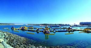 منتجع ميلينيوم المصنعة يكشف النقاب عن أول حديقة مائية عائمة في الباطنة
