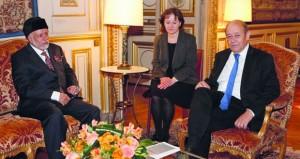 وزير الخارجية الفرنسي يستقبل يوسف بن علوي