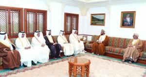 اسعد بن طارق يستقبل وزير البلديات والبيئة القطري