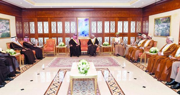 بحث واستعراض العلاقات الثنائية بين السلطنة والسعودية وسبل تعزيزها